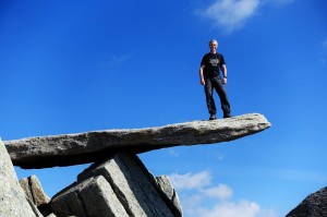 Yours truly testing the Glyder Cantilever stone