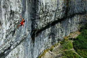 Buster Martin on Batroute (F8c), Malham