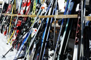 Ski racks at Flaine