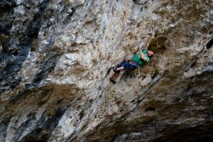Paul Reeve out on a project at L'Oasif, Gorge du Tarn, France