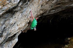 Bob Hickish picking pockets on Le viagra c'est paas pour les bras (F8b), Gorge du Tarn, France