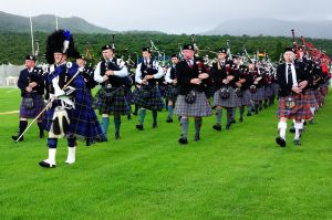 Pipe Band at Newtonmore Games