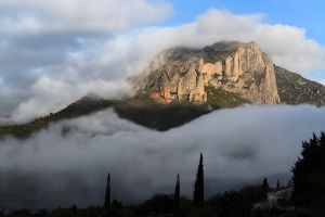 The view out the back of the refugio, Riglos, Spain