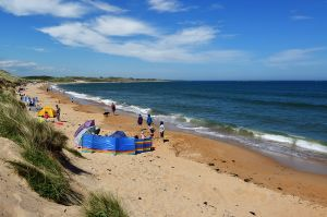 Embleton Bay, north of Dunstanburgh Castle, has golden sands as far as you can see