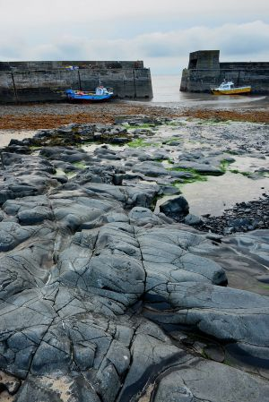 Dusk and Craster Harbour