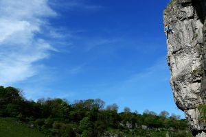 The Massive (F6bplus) Plum Buttress, Chee Dale