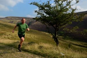 Ian Winterburn nearing the end of Doctor's Gate, Peak District