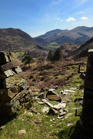 Looking south west towards Beddgelert