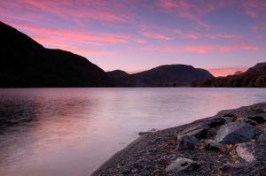 Sun down over Buttermere