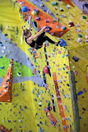 Jennifer Wood in the Mammut Uni Comp, the Foundry
