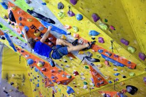 Luke Dawson in the Mammut Uni Comp, the Foundry