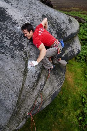 Climbing 2012:September - Tom Randall on Snug as a Thug on a Jug E4 6b at the Cowper Stone
