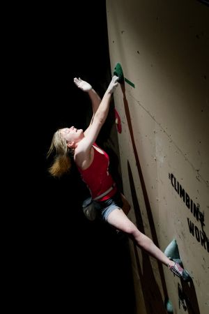 Climbing 2012:December - Shauna Coxley competing at Cliffhanger 2011