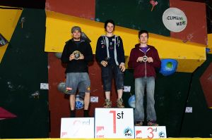 Cliffhanger 2012 - IFSC Junior Male Podium
