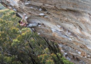 Climbing 2013:Feb_The Way of All Flesh (28/F7c/Plus ), Barden's Lookout, Blue Mountains in Australia
