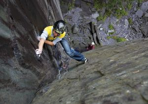 Climbing 2013:March_Becky Lounds on German Schoolgirl (E2 5c), Llanberis Slate Quarries, Snowdonia