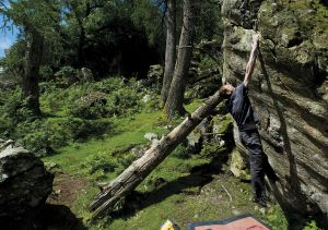 Climbing 2013:Aug_Bruno Marks on Karma of Trees (Font 7c), Little Font, Lake District