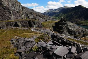 Llanberris Pass from the slate quarries