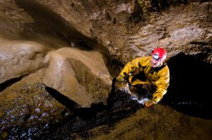 Tim in Peak Cavern streamway