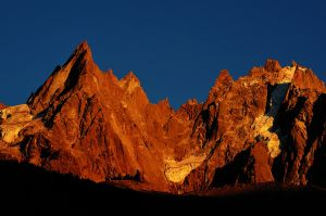 The Aiguillies, Chamonix, France - sunset