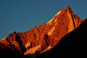 The Dru, Chamonix, France - sunset