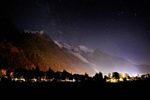 Chamonix at Night, France